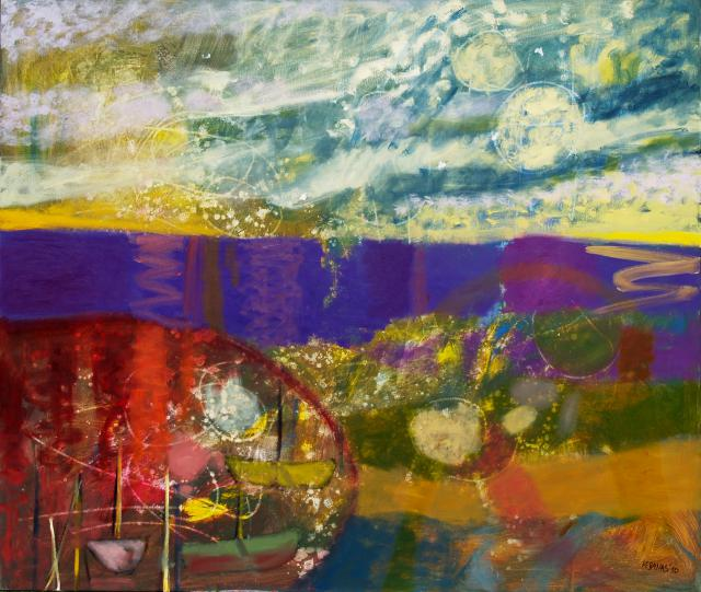 The Dusk and no Memories, oil on canvas, 110 x 130 cm, 2010