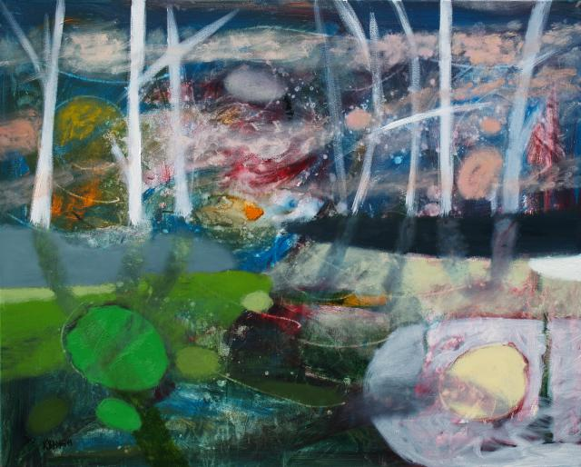 At the Green Pond, oil on canvas, 80 x 100 cm, 2011